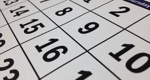 Nahaufnahme eines Kalenderblattes
