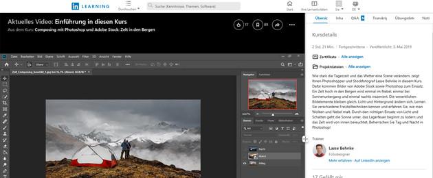 Bildschirmfoto von einem Videokurs auf der Website Linkedin Learning