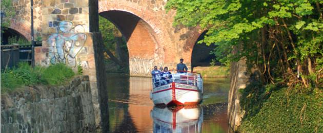 Boot in Plagwitz auf dem Karl-Heine-Kanal