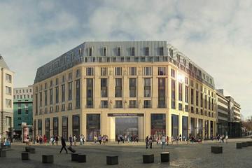 Bild wird vergrößert: Visualisierung der geplanten Bebauung des Burgplatzes