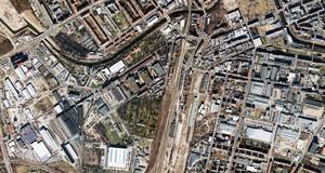 Luftbild im Leipziger Westen