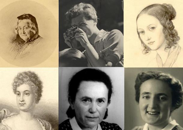 verschiedene Porträts bedeutender Leipzigerinnen