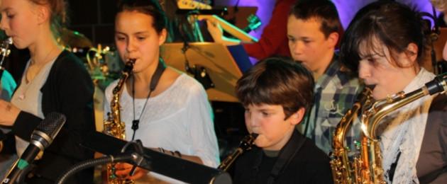 Junge Musiker beim Kids Jazz L.E.