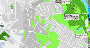 Karten-Ausschnitt aus der Karte Planungsmodule