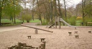 Gesamtansicht des Spielplatzes Johannapark