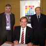 Leipzigs Oberbürgermeister Burkhard Jung zur Jahreshauptversammlung des Städtenetzwerks EUROCITIES in Den Haag 2008