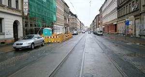 Haltestelle Phillip-Reis-Straße in stadtwärtiger Richtung