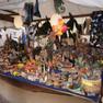 Historischer Handwerkermarkt während der Leipziger Markttage mit einem Verlaufsstand