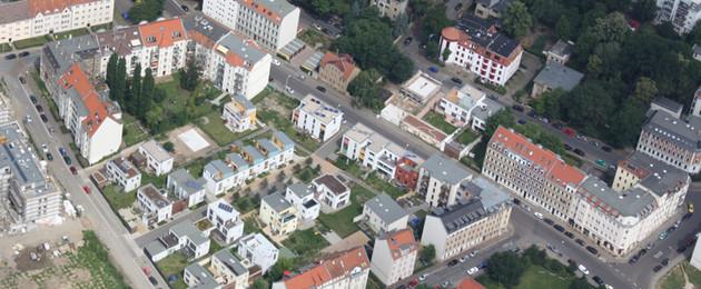Luftbildaufnahme Selbstnutzer Wohngebiet Stallbaumstraße
