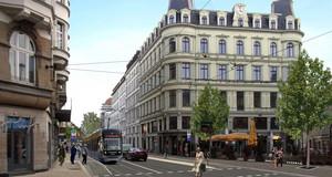 Fotomontage Münzplatz mit neuer Haltestelle