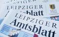 verschiedene Ausgaben des Leipziger Amtsblattes auf einem Stapel