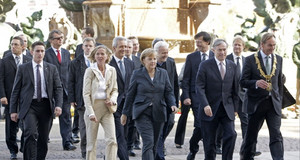 Bundespräsident Horst Köhler, Bundeskanzlerin Angela Merkel, Oberbürgermeister Burkhard Jung, dem sächsischen Ministerpräsident Stanislaw Tillich und dem Präsidenten des Sächsischen Landtags Matthias Rößler
