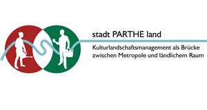 """Logo """"stadt PARTHE land"""""""