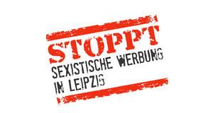 Logo der Kampagne Stoppt Sexistische Werbung in Leipzig in Form eines Stempelabdruckes