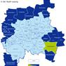 Karte der Leipziger Ortsteile und Ortschaften - Holzhausen hervorgehoben