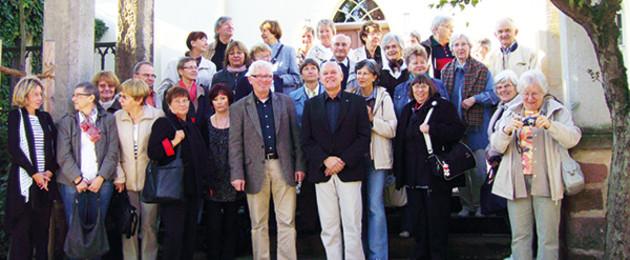 Gruppenbild der Mitglieder des Fördervereins der Leipziger Städtischen Bibliotheken