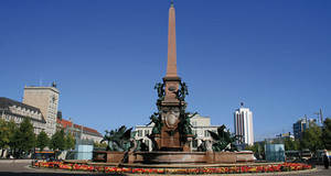 Mendebrunnen auf dem Augustusplatz