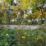 Schönefeld Stöckelplatz mit Blumenbeet