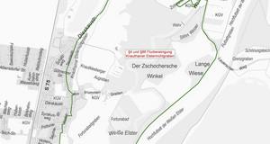 Stadtgrundkarte von Knauthain, Knautkleeberg, Windorf und Großzschocher
