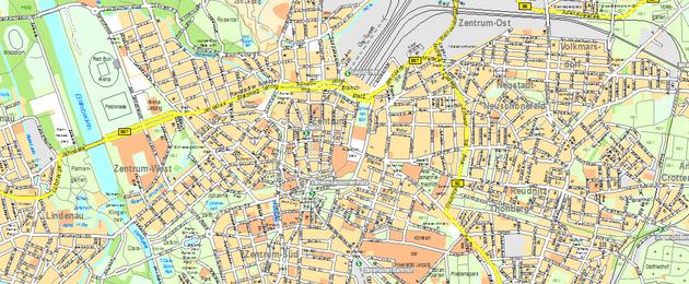Leipzig Karte Mit Stadtteilen.Amtlicher Stadtplan Stadt Leipzig