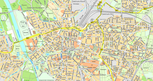 Grundkarte der Geobasisdaten - Stadtplan der Stadt Leipzig 1:21.000