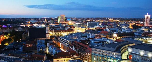 Luftbild Thomaskirche und Innenstadt