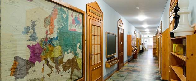 Die Dauerasustellung des Leipziger Schulmuseums, Bereich 1212 bis 1933.