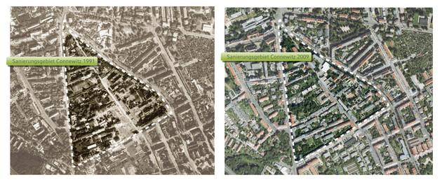 Connewitz Luftbilder 1991-2009