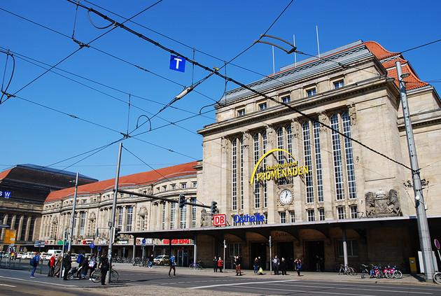 Vorderansicht Hauptbahnhof - Eingang Osthalle