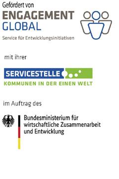 Bild wird vergrößert: Logos des Fördermittelgebers sowie des Bundesministeriums für wirtschaftliche Zusamennarbeit und Entwicklung