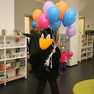 Eröffnung der Stadtbibliothek - Spass mit Rabe Socke