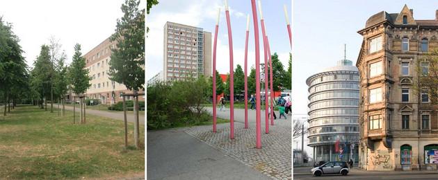 Fotos der Stadtteile Paunsdorf, Grünau und vom Leipziger Osten sind zusammengestellt.