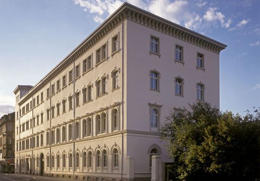 Nachtansicht des Mendelssohn-Hauses - einzig erhaltene Wohngebäude von Felix Mendelssohn Bartholdy.