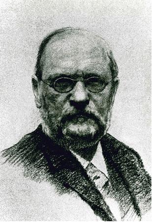 Historisches Foto von Gustav Wustmann,  1881 erster hauptamtlicher Direktor der Stadtbibliothek und des Ratsarchives