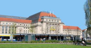 Hauptbahnhof der Stadt Leipzig