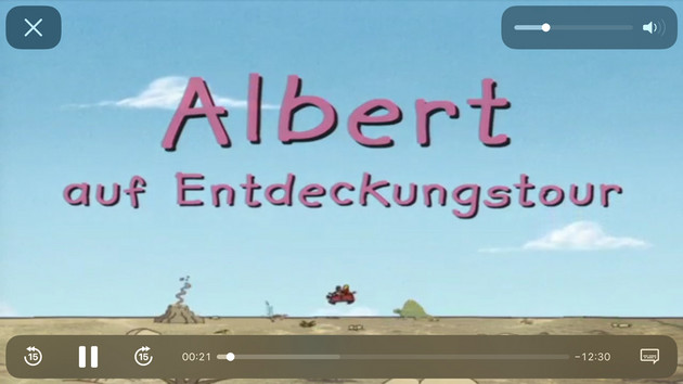 Bildschirmfoto des filmfriend Players und den dazugehörigen Optionen
