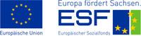 """Europäischer Sozialfonds, Slogan """"Europa fördert Sachsen"""""""