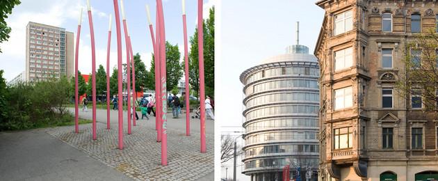 Ansichten von Grünau Stuttgarter Allee und Leipziger Osten Torgauer Platz