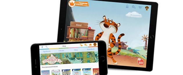 Tablet und Smartphone mit TigerBooks App