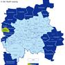 Karte der Leipziger Ortsteile und Ortschaften - Burghausen hervorgehoben