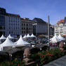Marktplatz zu Leipziger Markttage - Blick vom Altem Rathaus