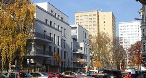 Foto eines Neubau-Wohngebäudes im Musikviertel in Zentrum-West