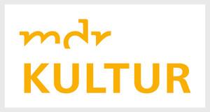 """Logo: gelber Schriftzug """"mdr kultur"""" auf weißem Grund"""