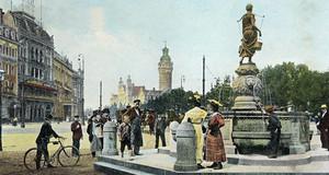 Postkarte vom Leipziger Roßplatz um 1906