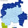 Karte der Leipziger Ortsteile und Ortschaften - Hartmannsdorf-Knautnaundorf hervorgehoben
