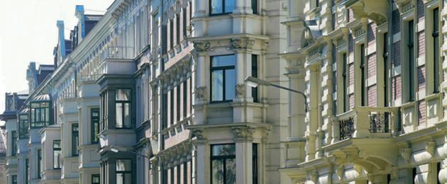 Fassade von Gründerzeithäusern in Leipzig