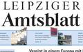 Ausschnitt aus dem Titelblatt des Leipziger Amtsblattes mit Logo Leipziger Amtsblatt
