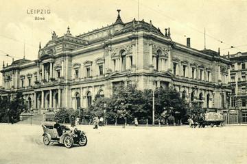 Bild wird vergrößert: Gebäude der Leipziger Börse an Löhrs Platz, 1943 zerstört
