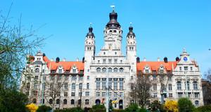 Neues Rathaus in Leipzig Gebäudeansicht
