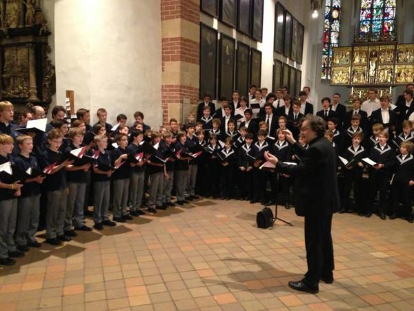 Leipziger Thomanerchor und Knabenchor Hannover musizieren gemeinsam in der Thomaskirche zu Leipzig